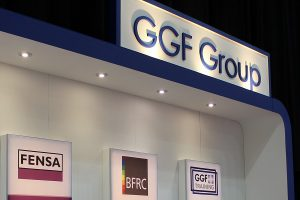 ggf group company logos on exhibition stand