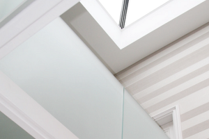 glass panel balustrade frosted